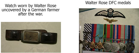 Walter Rose watch and medals